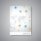 Disposition abstraite moderne de calibre pour la brochure illustration libre de droits