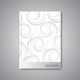 Disposition abstraite moderne de calibre pour la brochure Photo stock