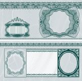 Disposition blanc de billet de banque Photographie stock libre de droits