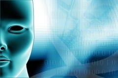 Disposition bleue d'affaires basée sur le WEB Photo libre de droits