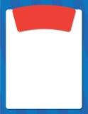 Disposition bleue d'affiche Image stock