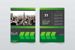 Disposition, brochure, calibre, flayer, magazine, conception de couverture pour a Images stock