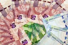 Disposition circulaire des billets de banque sud-africains Photo libre de droits