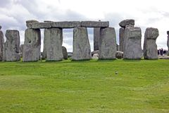 Disposition circulaire des blocs en pierre, Stonehenge, sud-ouest Angleterre Images stock