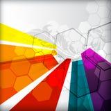 Disposition colorée illustrée avec l'abstraction Image libre de droits