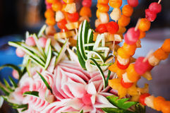 Disposition décorative de fruit images libres de droits