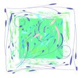 Disposition décorative des articles végétaux dans le rectangle Image stock