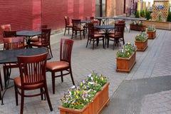 Disposition d'allocation des places chauffez et d'invitation pour l'extérieur dinant, le ` s, Saratoga New York, 2017 de Hattie photo stock