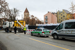 Disposal of a WW2 bomb in Augsburg, Germany