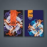 Disposition de calibre de brochure, conception de couverture de rapport annuel, livre, magazine Images libres de droits