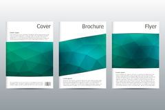 Disposition de calibre de brochure, insecte, couverture, rapport annuel, magazine dans la taille A4 Forme triangulaire Abstrait g Images libres de droits