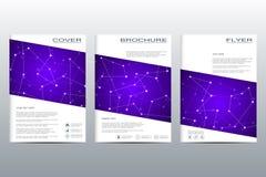 Disposition de calibre de brochure, insecte, couverture, rapport annuel, magazine dans la taille A4 Structure des particules et d Photographie stock