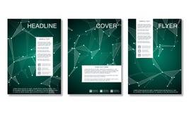 Disposition de calibre de brochure, insecte, couverture, rapport annuel, magazine dans la taille A4 Structure des particules et d Photo libre de droits