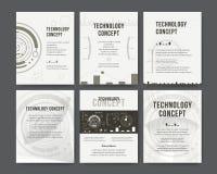 Disposition de calibre de brochure, rapport annuel de conception de couverture illustration libre de droits