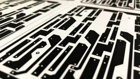 Disposition de carte électronique sur le papier Images libres de droits
