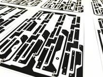 Disposition de carte électronique sur le papier Image stock