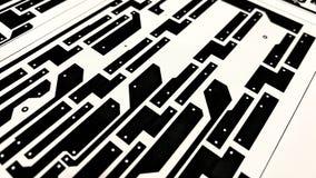 Disposition de carte électronique sur le papier Image libre de droits