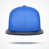 Disposition de chapeau bleu de coup sec et dur Photographie stock