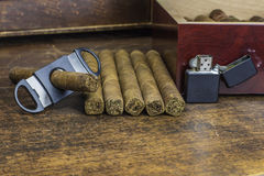 Disposition 3 de cigare Photos stock