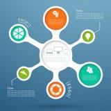 Disposition 4 de diagramme du cercle 3d Infographic Image stock