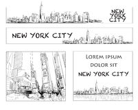 Disposition de Ney York City Skyline Banner Image stock