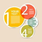 Disposition de papier d'Infographics de vecteur de cercle Photo stock