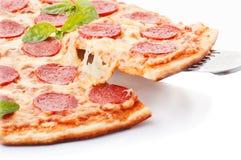Disposition de pizza de pepperoni belle Image libre de droits