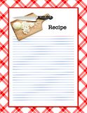 Disposition de recette Photo stock