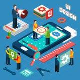 Disposition de symboles de concept de design de l'interface d'utilisateur Images stock