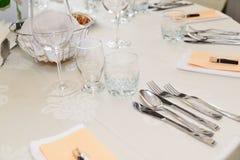 Disposition de table de dîner Photo stock