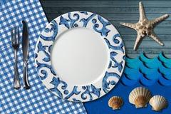 Disposition de Tableau pour le menu de fruits de mer Images libres de droits