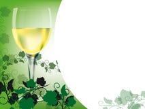 Disposition de vin blanc Photo stock