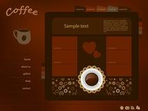 Disposition de Web de café Photos libres de droits