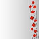 Disposition des fleurs, de voile et des perles de pavot sur le fond gris pour l'usage dans votre conception Photos libres de droits
