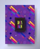 Disposition dynamique de brochure d'Art Print Web de bruit Image stock