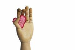 Disposition fabriquée à la main du coeur en bois Photos libres de droits