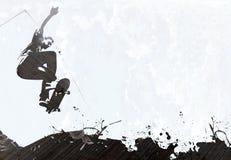 Disposition grunge faisante de la planche à roulettes illustration de vecteur