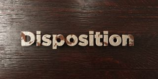 Disposition - grungy wooden headline on Maple  - 3D rendered royalty free stock image Royalty Free Stock Photo