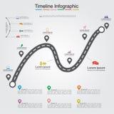 Disposition infographic d'élément de chronologie de route Vecteur Image stock
