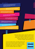 Disposition infographic de vecteur de concept d'affaires pour la présentation, le livret, le site Web et tout autre projet de con Images libres de droits