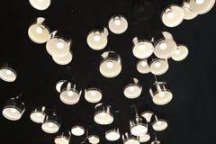 Disposition irrégulière des lumières en aluminium de la couverture LED photographie stock libre de droits