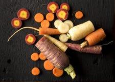 Disposition organique de carotte d'héritage photo stock
