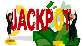 Disposition plate de bannière de gagnants de loterie avec le lettrage illustration de vecteur