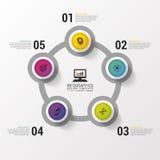 Disposition pour vos options ou étapes descripteur moderne de conception Infographie Illustration de vecteur illustration libre de droits