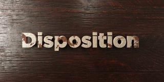 Disposition - titre en bois sale sur l'érable - image courante gratuite de redevance rendue par 3D Photo libre de droits