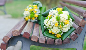 Dispositions de fleurs de mariage Photos libres de droits