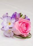 Dispositions de fleurs de mariage Photo libre de droits