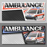 Dispositions de vecteur pour l'ambulance illustration stock