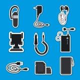 Dispositivi degli accessori del telefono cellulare Immagine Stock Libera da Diritti