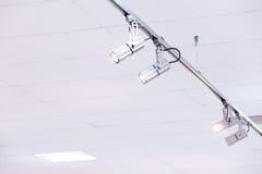 Dispositivi della plafoniera di mostra Immagine Stock